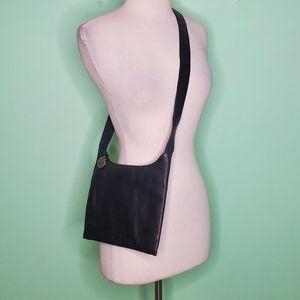 The Sak Black Pebbled Leather Crossbody Bag